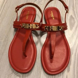 Coach Catherine Leather Sandal - Sz 9.5